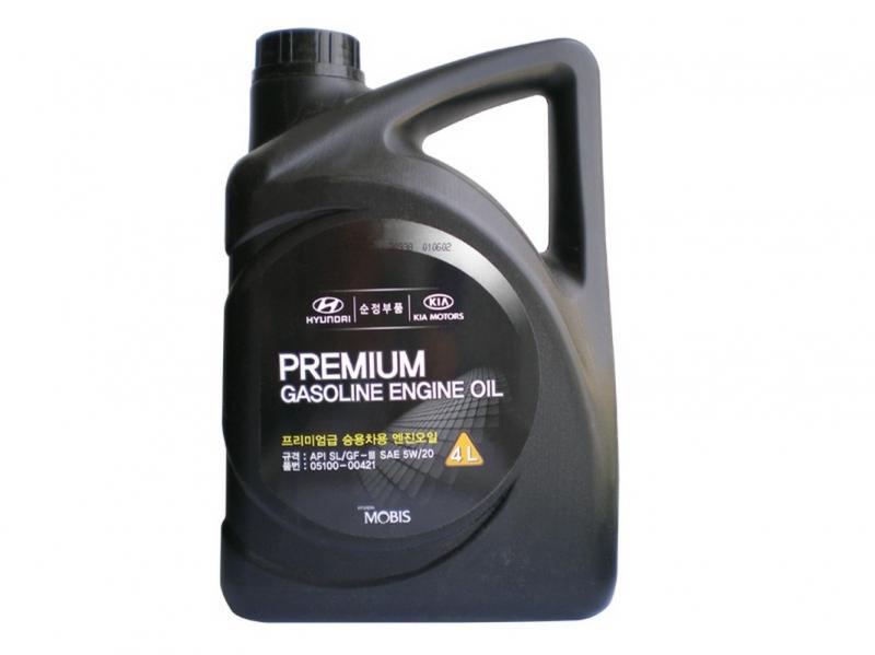 MOBIS PREMIUM GASOLINE 5W20 4L SL/GF-3