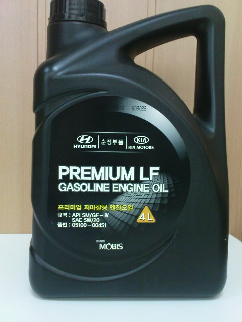 MOBIS PREMIUM LF GASOLINE 5W20 4L SM/GF-4